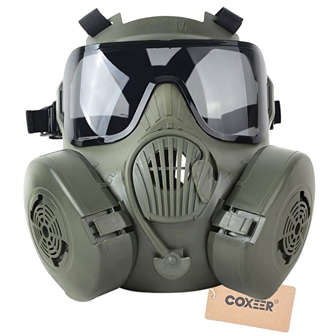 Coxeer M50 Airsoft Mask Full Face Skull CS Mask Review